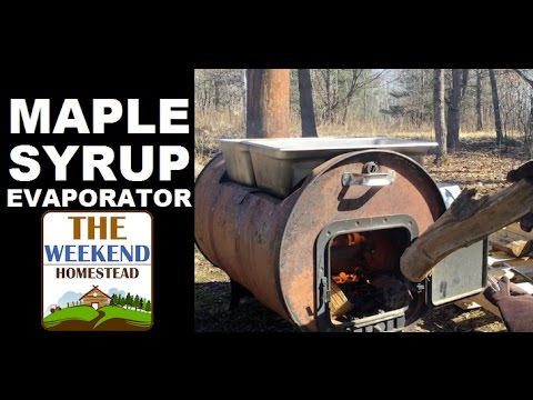 WOOD FIRED Maple Syrup Evaporator (pt 2) ~ DIY Boiling Down Sap