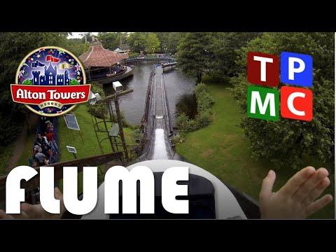 THE FLUME - Alton Towers - on ride POV - GoPro
