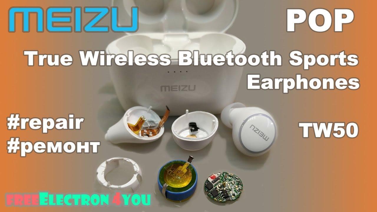 Meizu POP True Wireless Bluetooth Sports Earphones TW50 repair ремонт