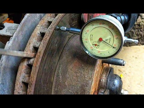 Как проверить биение тормозного диска
