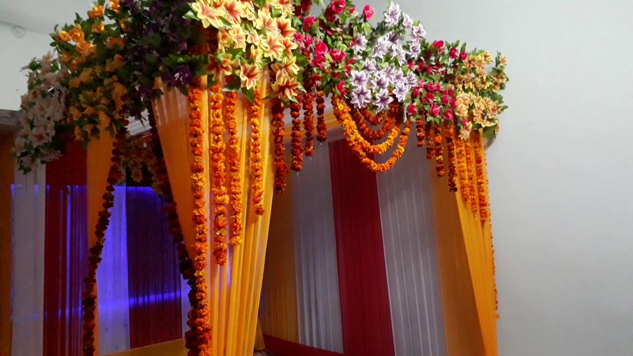 Haldi Decoration Youtube