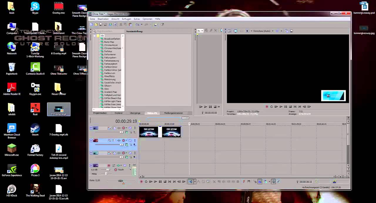 how to add text overlay in sony vegas 13
