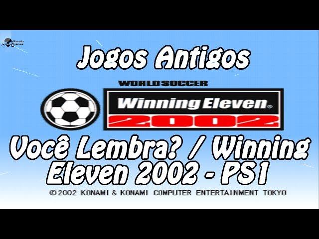 Jogos Antigos - Winning Eleven 2002 - PS1
