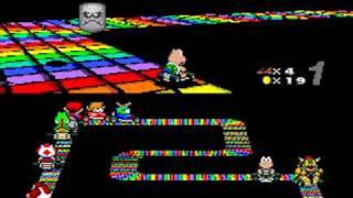 Super Mario Kart (SNES) - Rainbow Road Special Cup (150cc) record