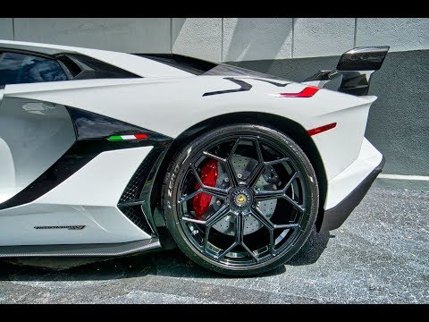 Lamborghini Aventador SVJ 759hp  WHITE BEAST Start up Drive Interior Exterior at Lamborghini Miami