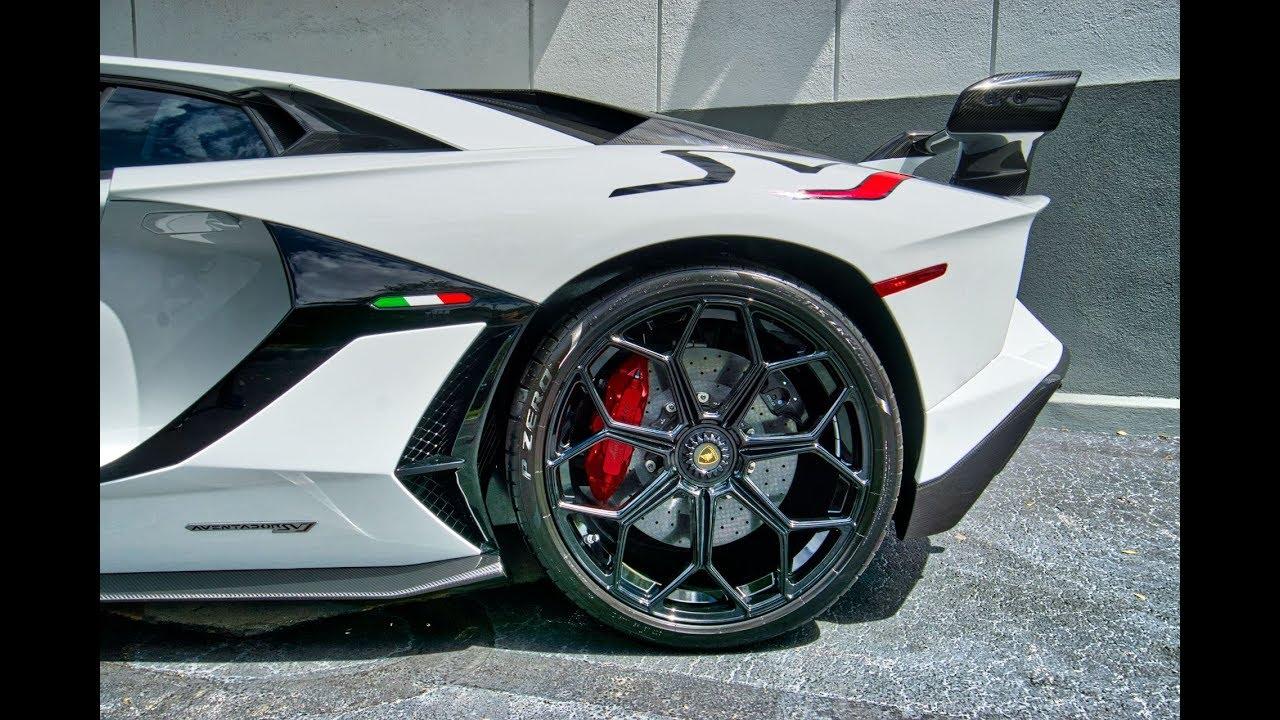 Lamborghini Aventador SVJ 759hp WHITE BEAST Start up Drive Interior  Exterior at Lamborghini Miami