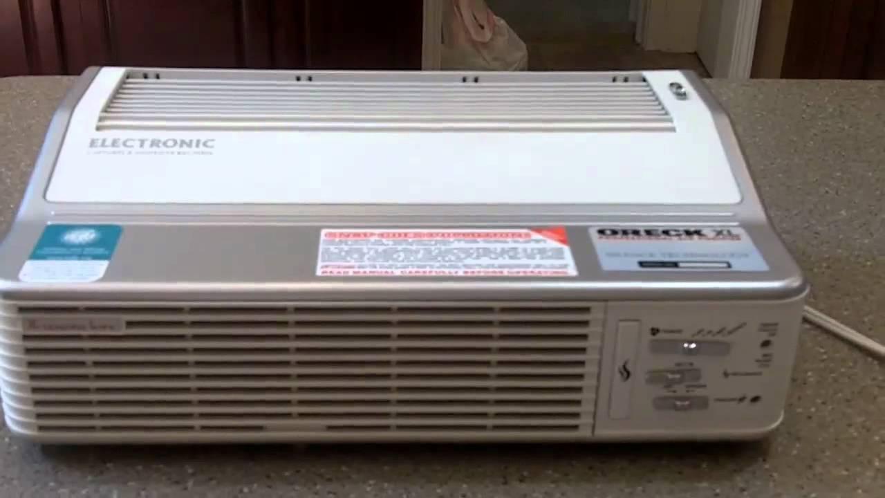 Oreck Xl Purifier ~ Oreck xl series ionic air purifier youtube