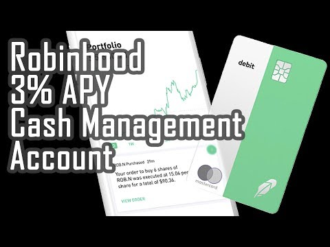 Robinhood 3% Cash Management Account