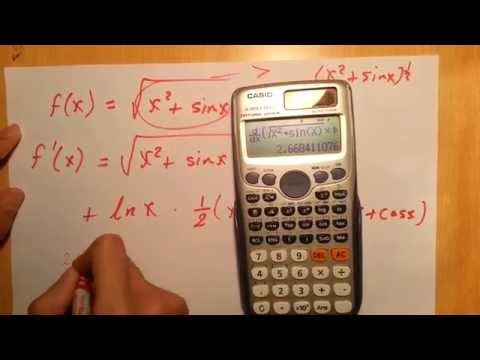 How to Differentiate using calculator