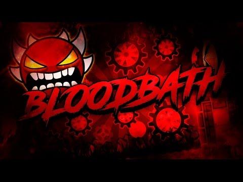 Geometry Dash 2.1 - New/Buffed/Harder Bloodbath (Impossible Demon) de Riot y su pandilla (Hackeado)