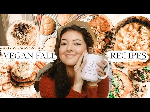one week of vegan cozy fall recipes (+ a HUGE announcement !!)
