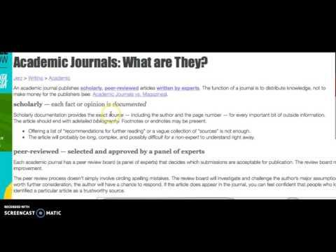 Using JSTOR & EBSCO Pt. 1