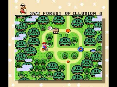 Super Mario World Complete map - YouTube