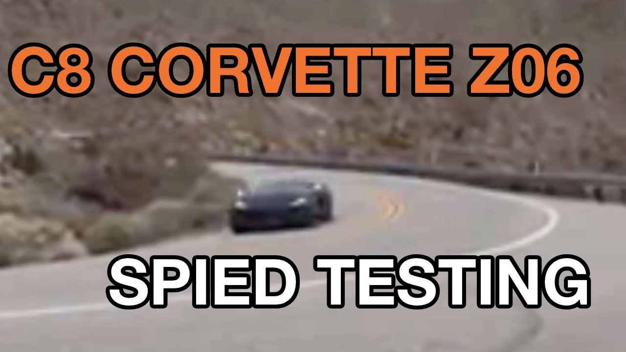 2022 Corvette Z06 spied with exhaust, engine sound