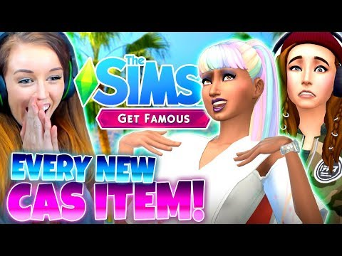 ✨🌟SIMS 4 GET FAMOUS - *ALL* NEW CAS ITEMS! 🌟✨