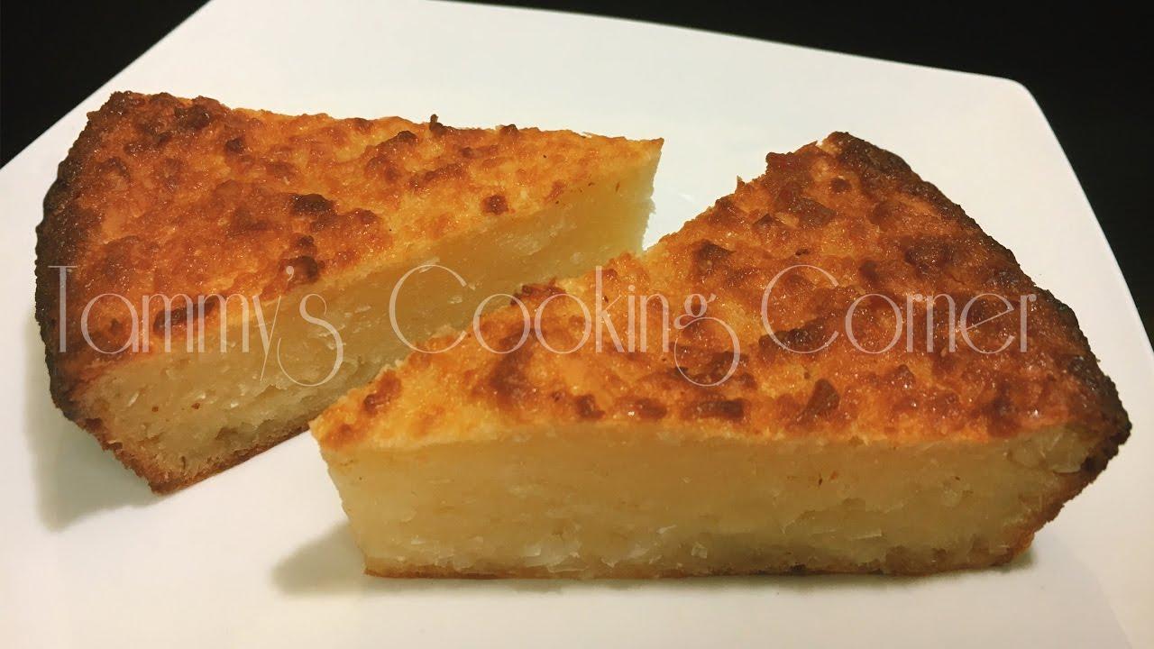 Banh Khoai Mi Nuong - BAKED CASSAVA CAKE (Bánh Khoai Mì