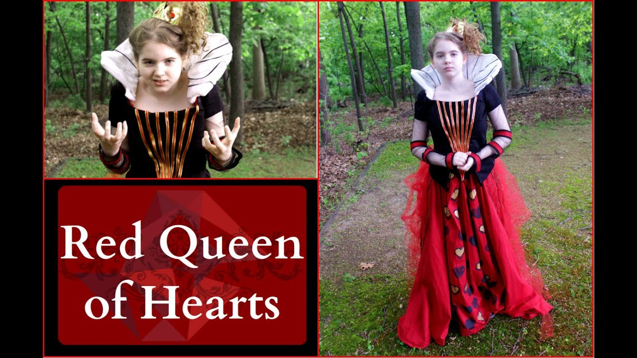 how to make the red queen of hearts costume - alice in wonderland