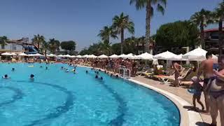 Анимация у бассейна отель Джустиниано Клуб Парк Конти Аланья Турция
