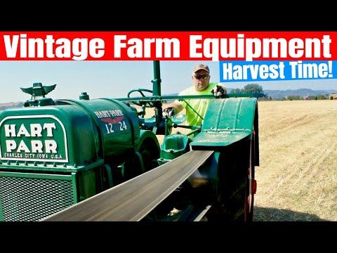 Vintage Farm Equipment - Harvesting With Vintage Farm Equipment