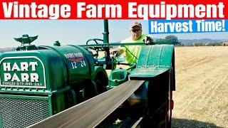 Vintage Farm Equipment - Harvesting with vintage farm equipment