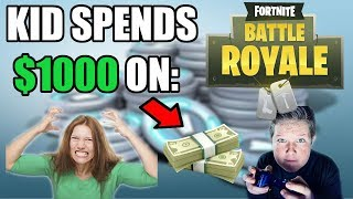KID SPENDS $1000 ON FORTNITE BATTLE ROYALE V-BUCKS WITH PARENT'S CREDIT CARD! (Story)