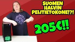 Kasataan SUOMEN HALVIN uusi pelitietokone!?! 200€ TYKKI!!
