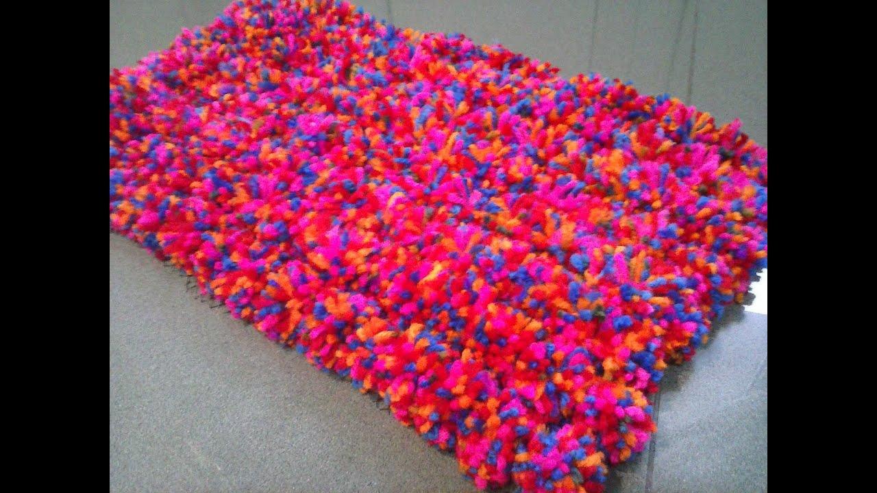 Alfombra pompom youtube - Como hacer alfombras de nudos ...