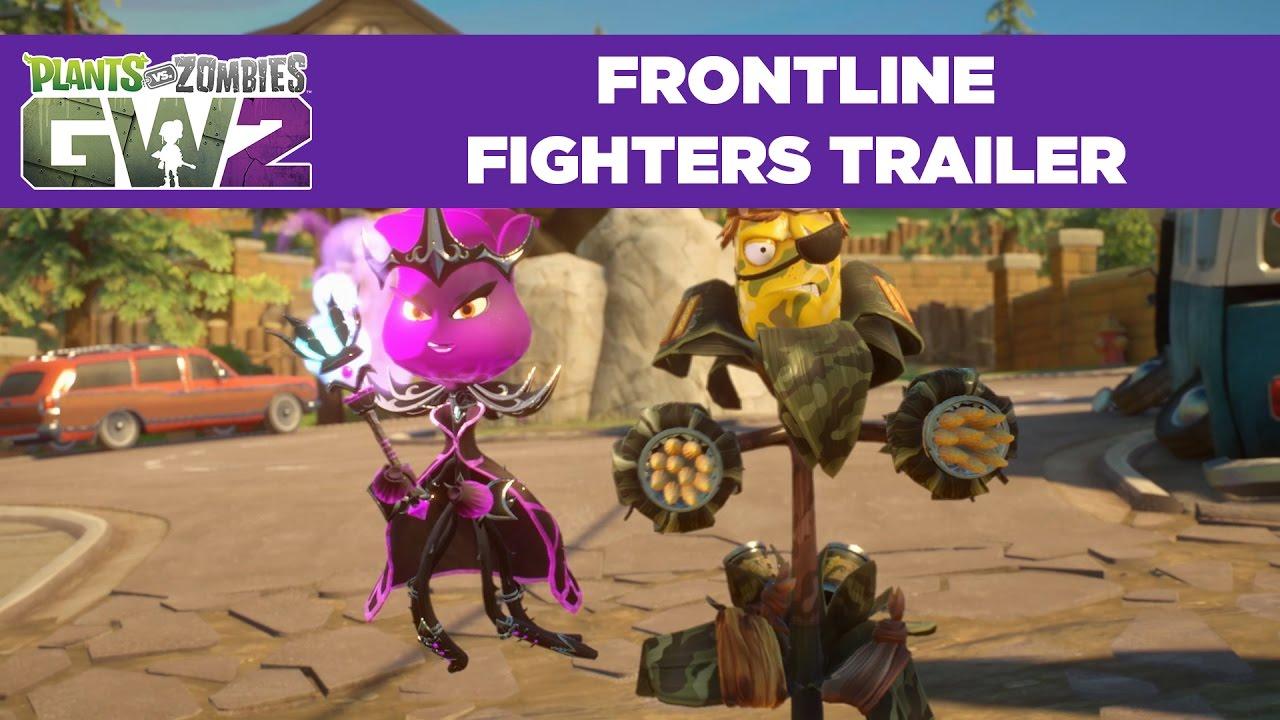 Frontline Fighters Gameplay Trailer   Plants vs. Zombies ...
