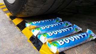 Crushing Crunchy & Soft Things by Car! EXPERIMENT: CAR VS BOUNTY & More