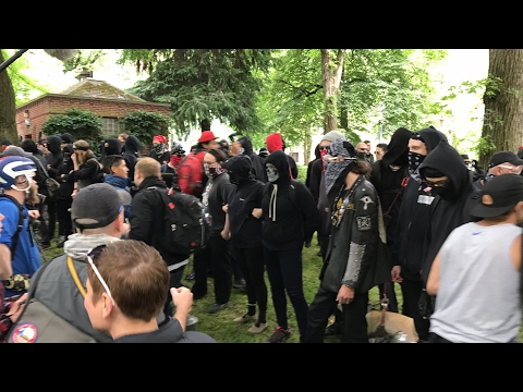 LIVE: ANTIFA VS FREE SPEECH IN PORTLAND
