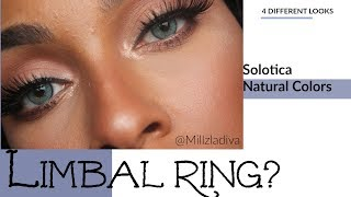 Solotica Natural Colors: Topazio,Ice,Mel,Ocre| Limbal Ring ?