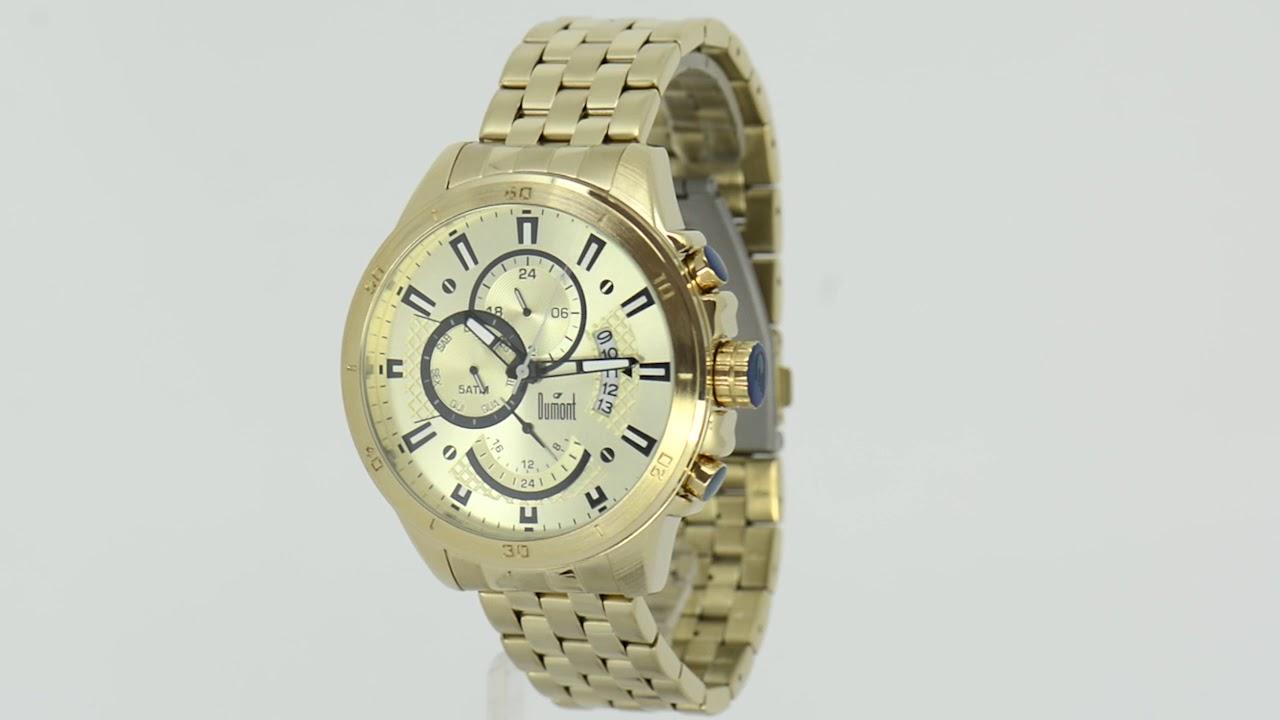 Relógio Dumont Masculino Garbo DUJP15AB 4D - Eclock - YouTube 305305d04a