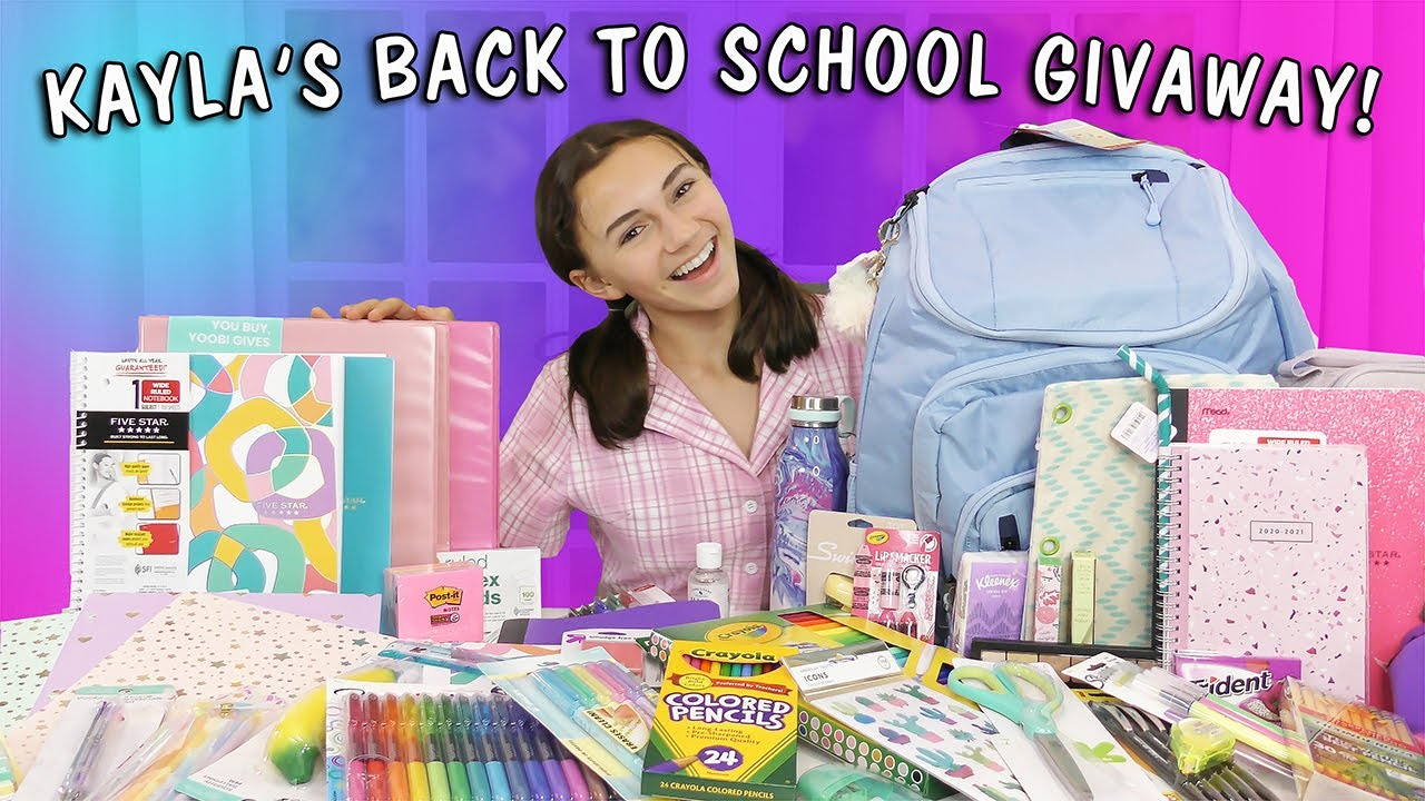 KAYLA'S INSANE BACK TO SCHOOL SUPPLIES GIVEAWAY! 2020 HURRY!!!! | Kayla Davis