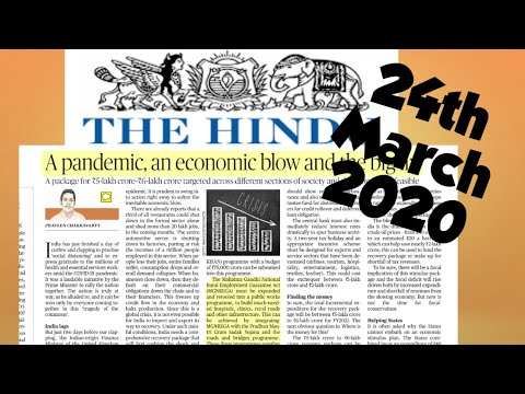 The Hindu Newspaper 24th March 2020