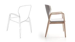 Silla Nies diseñada por Vicente Gallega - Beltá & Frajumar