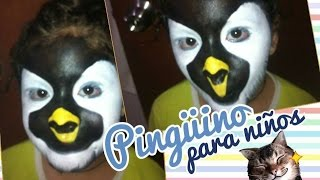 Maquilla para niños de pingüino