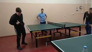 1ч. Обучение настольному теннису  ребят с интеллектуальным отклонениями .