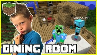 Making a Dining Room with Gamer Girl Karina OMG | Minecraft