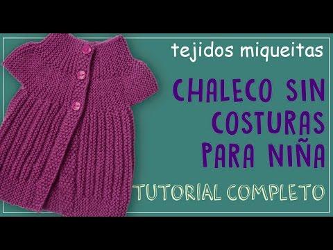 Cómo tutorial Tejer Niña Sin Para Costuras Completo Chaleco Un 77q4p0r