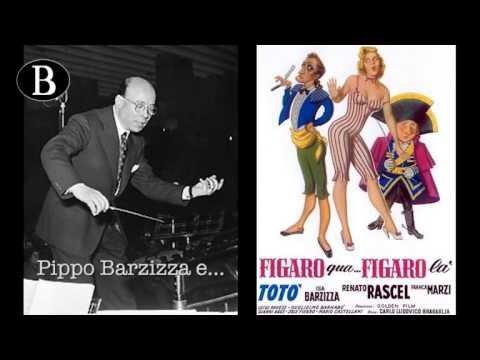 """Pippo Barzizza e il cinema. I titoli di testa del film """"Figaro qua...  Figaro là"""", 1950."""