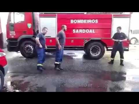 Bombeiros do Sardoal num momento de descontração