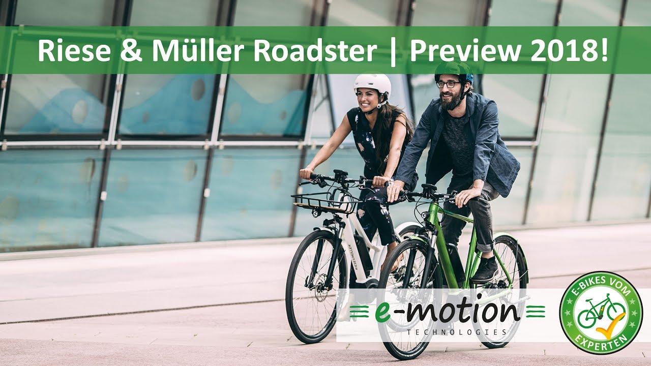 riese m ller roadster e bike neuheiten 2018 pedelec preview vorschau youtube. Black Bedroom Furniture Sets. Home Design Ideas