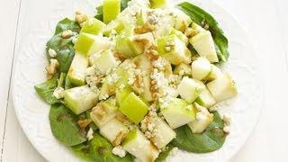 Яблочный салат с сыром