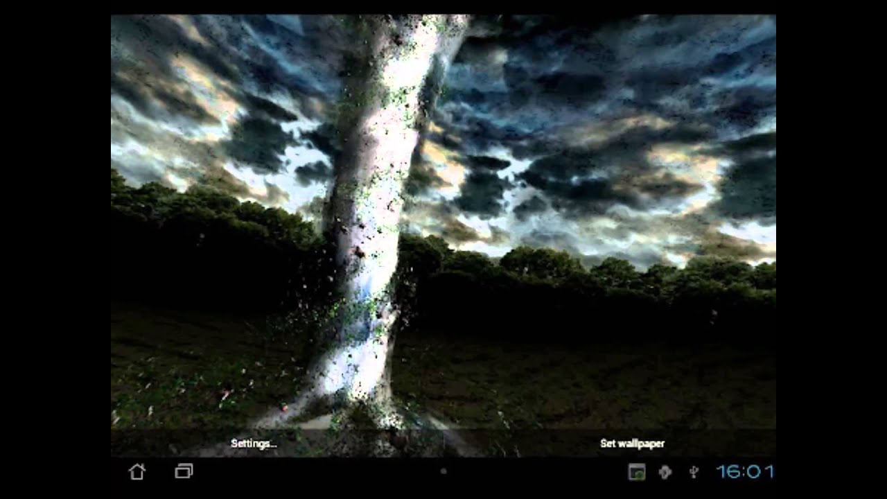 Tornado 3d fondo animado hd para smartphone y tablet for Fondos 3d para android