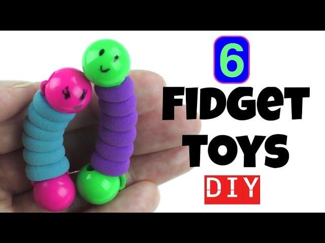 6 EASY DIYS - DIY FIDGET TOYS - NEW FIDGET TOYS TO MAKE FOR KIDS USING HOUSEHOLD MATERIALS -- TOYS