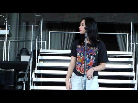 Demi Lovato Soundcheck Q&A - camp rock 2, nick jonas, mcdonald's, penguins, etc.