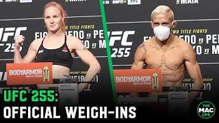 UFC 255: Official Weigh-Ins (Main Card)