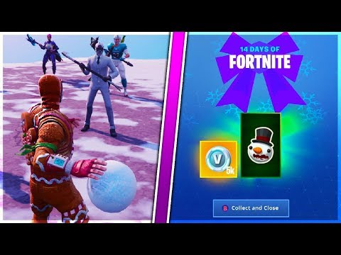 """""""Hit a Player With a Snowball in Different Matches"""" FASTEST WAY and New ITEM in 14 Days Of Fortnite!"""