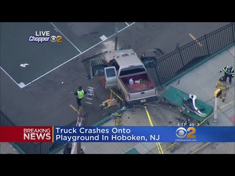 Pickup Crashes Onto Playground In Hoboken