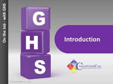 NEW E-Learning Tool: OSHA HazCom and the Worker -- On the job with GHS
